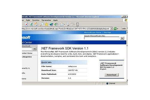 baixar microsoft net framework 1.1 pacote redistribuível