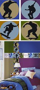 skateboard shadow kidifexs wall stickers With good look skateboard wall decals