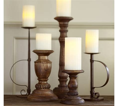 pottery barn candle holders oxford turned wood candleholders pottery barn
