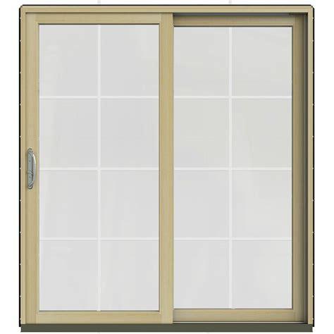 jeld wen patio doors reviews jeld wen 71 25 in x 79 5 in w 2500 black prehung right