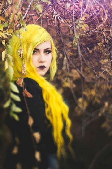 With Yellow Hair by Bright Yellow Hair 7 Unique Color Inspiration Photos