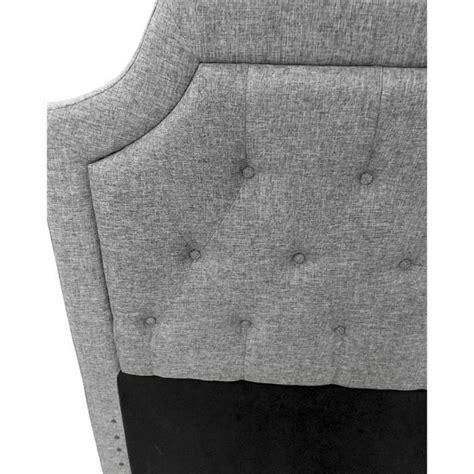 tete de lit capitonnee pas cher t 234 te de lit capitonn 233 e orphea 140cm tissu gris achat vente tete de lit pas cher couleur et
