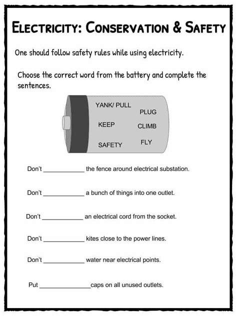 electricity worksheets homeschooldressage com