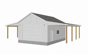 Garage Plans | ... , 8002-18, 24' X 32' X 12' Detached ...