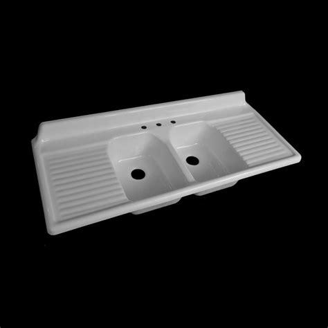 double sink with drainboard reproduction double basin drainboard sink model 6025 ebay