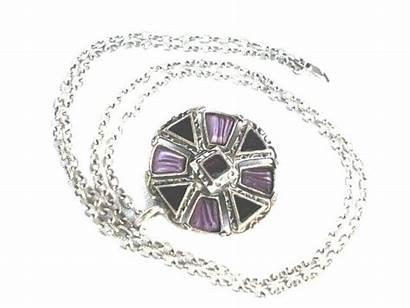 Pendant Glass Mauve Miracle Gems Enamel Circular
