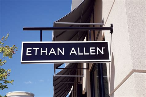 ethan allen sign  premier home furnishings store