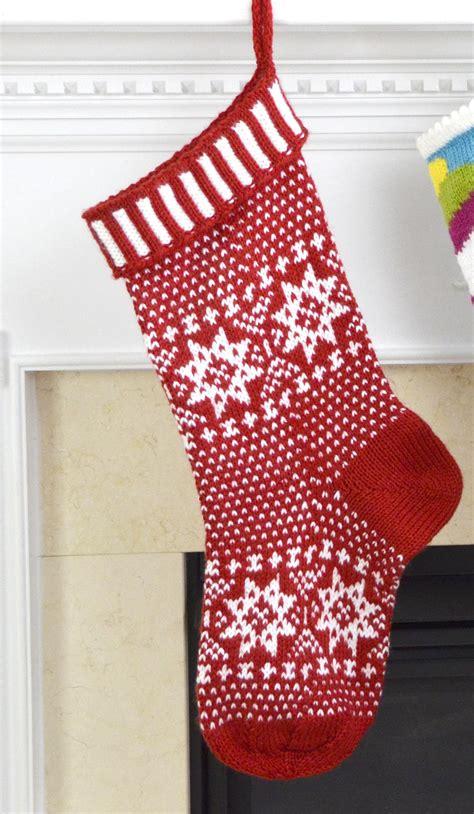 scandinavian knit stocking pattern favecraftscom