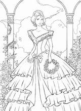 Coloring Pages Ball Gown Getdrawings sketch template