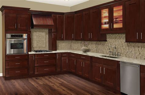 Cherry Hill Shaker  Kitchen Cabinets ? Solid Wood Cabinets