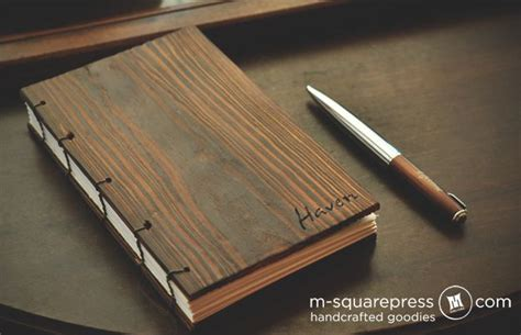 Wooden Book by Personalized Pine Wooden Cover Book M Squarepress