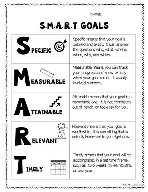 smart goals worksheet high school worksheets