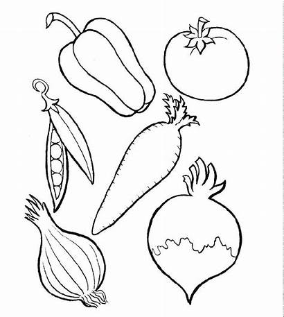 Coloring Pages Vegetables Fruits Vegetable Fruit Printable