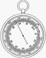 Barometer Aneroid Fig Science Sketch Properties Air Template Metal sketch template