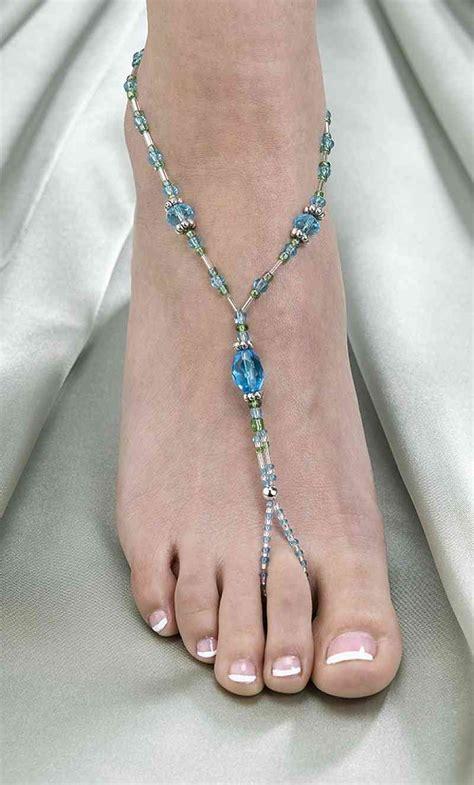 aqua bead foot jewelry wedding collectibles