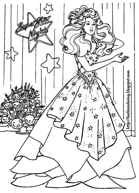 barbie coloring pages barbie bride  barbie superstar