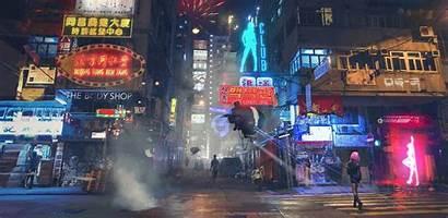 Cyberpunk Asian Street Hong Kong Eldertree Gmt