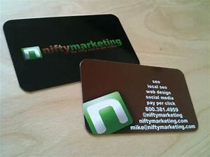Nifty marketing gets a new business card nifty marketing for Business card marketing