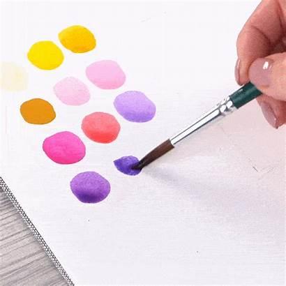 Lavender Field Arteza Paint Step Watercolor Tutorial