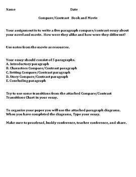 paragraph compare contrast book   essay