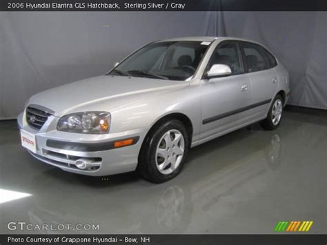 sterling silver  hyundai elantra gls hatchback gray interior gtcarlotcom vehicle