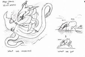 Mega Shark VS giant octopus by Mickeymonster on DeviantArt