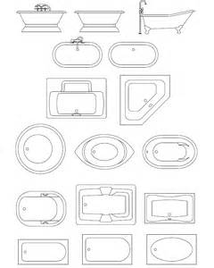 archblocks autocad tubs spas block symbols