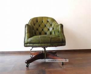 Chesterfield Sessel Leder : orig chesterfield vintage drehsessel b ro shabby chic sessel leder ~ Orissabook.com Haus und Dekorationen