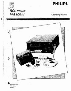 Philips Pm6303 Lcr Meter Op 1990 Sm Service Manual