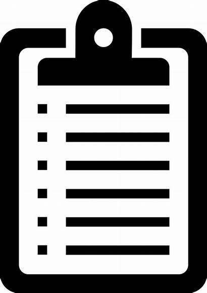 Clipboard Clipart Icon Board Svg Transparent Clip