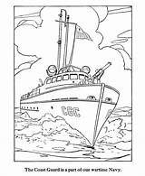 Coloring Pages Boat Army Forces Armed Guard Coast Ship Navy Patrol Ships Colouring Printable Drawing Clipart Military Force Air Adult sketch template