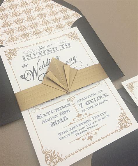 deco invitation templates freebie ornate vintage deco style print