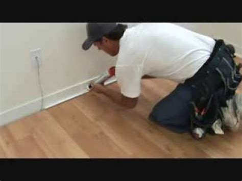 Tips when installing baseboard trim to laminate flooring