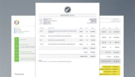 Template For Html Code Invoice Template Html Code Invoice Exle