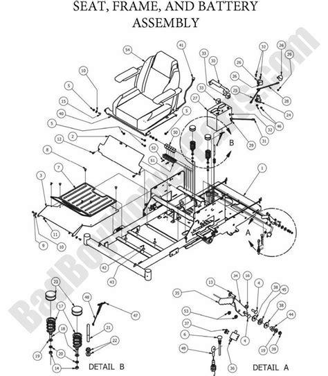 bad boy parts lookup 2013 zt elite seat frame