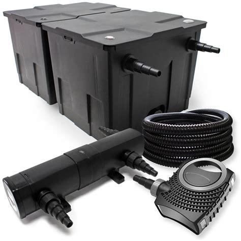 kit de filtration de bassin filtre 60000l pompe 233 co st 233 rilisateur uv 36w 066 54066 jardin