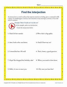 Find the Interjection | Common core standards, Core ...