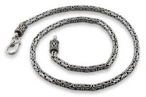 badass earrings sterling silver 22 quot byzantine chain necklace 3 5mm