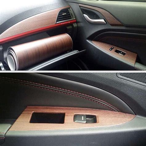 gros voiture int 233 rieur d 233 coration auto adh 233 sif pvc grain de bois vinyle autocollants pour