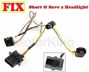 96-00 Mercedes E320 Headlight Wire Wiring Harness Connector Repair  B360