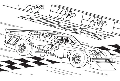 Race Car Printable Coloring Pages for Kids Free