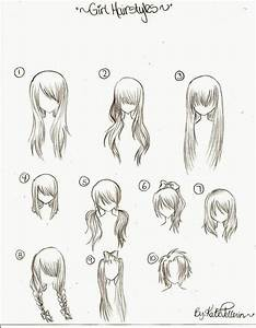 cool anime sketches of girls | Female Manga Hairstyles by ...