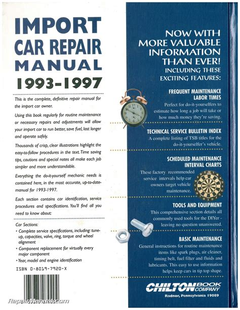 what is the best auto repair manual 1993 plymouth acclaim free book repair manuals chilton import car repair manual 1993 1997