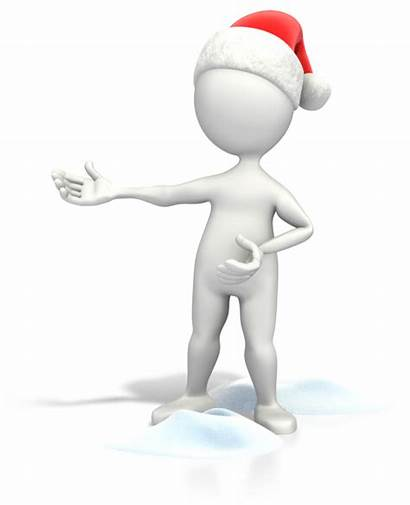 Figure Christmas Clipart Clip Presenting Powerpoint Stick