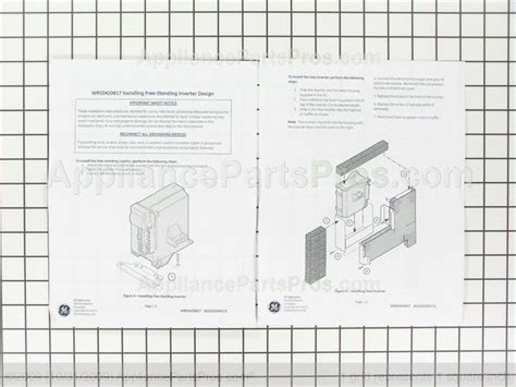 ge wrx inverter  stndg kit appliancepartsproscom