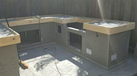 pour  place concrete countertops   bbq