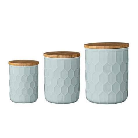 kitchen storage canisters sets set of 3 turquoise kitchen canisters beans and jazz