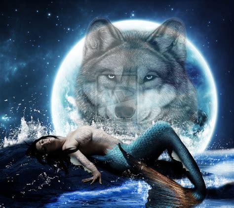 Moon And Clouds Wallpaper Wolf And Moon Wallpaper Wallpapersafari