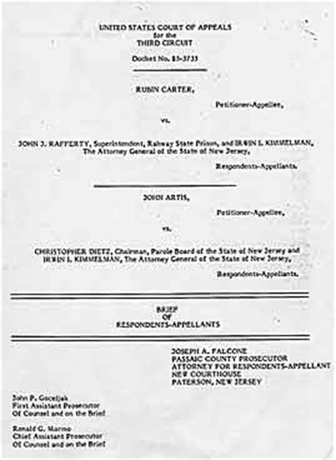 appellate brief table of authorities exle rubin quot hurricane quot carter the other side of the story
