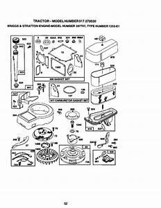 Craftsman 917270530 User Manual 14 5hp 42 Mower Lawn